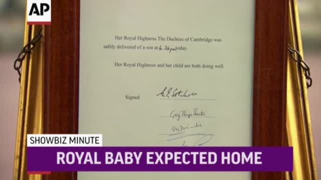 News video: ShowBiz Minute: Royal Baby, Scott, Farina
